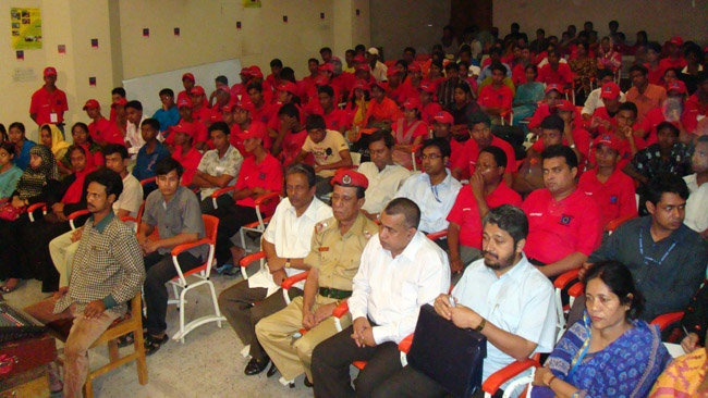 Volunteers at Certificate given ceremony