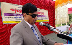 Mr. Mansur Ahmed Choudhuri was the key speaker at this convention