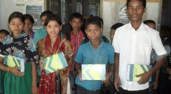 4 survivors with the Bangla Academy Dictionary and others materials