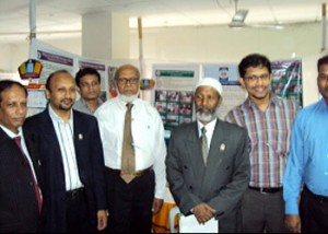 Prof. Dr. M .Samsul Hoque V.C of Northern University of Bangladesh has visited YPSA Stall on World Aids Day'10 Celebration program of Northern University Campus at Dhaka,