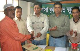 Mr. Palash Chowdhury, Director Finance, YPSA at the crop loan distribution program
