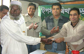 Md. Mahbubar Rahman, Director Program, YPSA at the crop loan distribution program