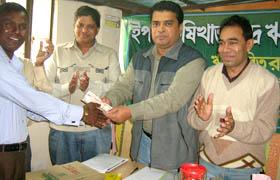 Md. Arifur Rahman, Chief Executive, YPSA at the crop loan distribution program