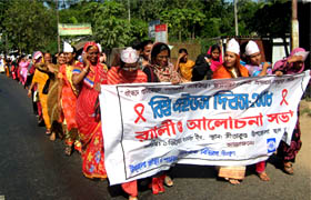 Women participants in the rally