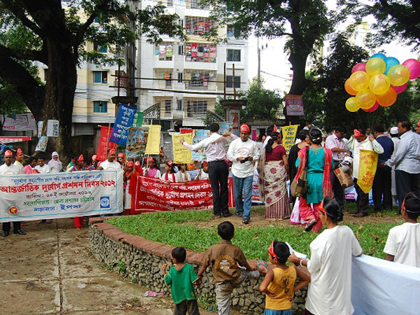 Awareness procession during IDDRR 2012