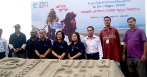 YPSA official with Plan Bangaldesh team in BIAAG program on Cox'sbazar sea beach