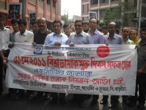 Rally on World No Tobacco Day