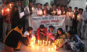 Candle lite vigil infront of press club