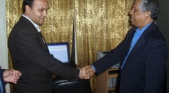 Chief advisor Dr. Fakruddin Ahmed and Vashkar