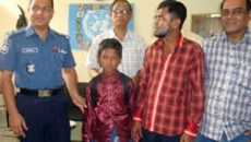 Child rescued and handover to his family.