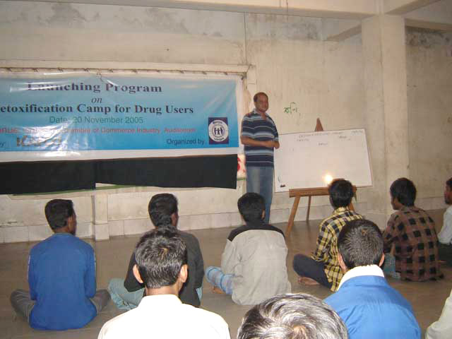 YPSA's drug user detoxification camp