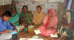 Group meeting of women
