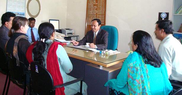 Visitor met with ADC-General of  Cox'sbazar District Md. Nurul Alam Nizami.