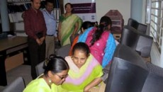 Trainees at the computer lab in Dhaka University