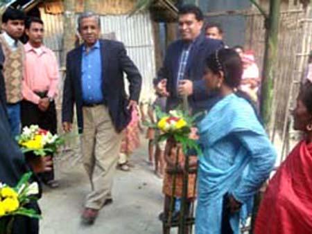 Dr. Fakruddin Ahmed, PKSF director visit micro finance program