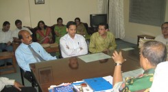 GFATM -South Asia Proram & Save the Children team discussing about YFHS with Director-CMCH(2)