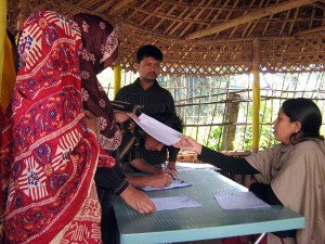 Beneficiary getting service at Remittance Fair