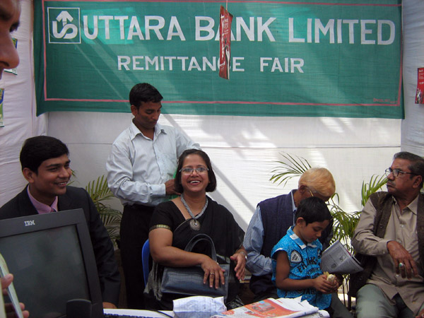 Uttara Bank stall at Remittance Fair