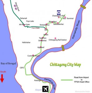 Map of Chittagong City