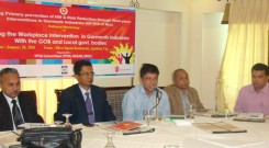 Mr. Nasir Uddin Chowdhury - BGMEA Ist Vice-President delivar his speech on Workshop (1296 x 972)