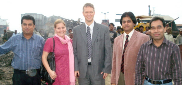 Mr.Arne Haug, Charge d' Affairs, Royal Norwegian Embassy, Mr.Morshed Ahmed, Senior Advisor, Development Affairs of the Embassy and Ms. Stine Thomassen from NORAD visited YPSA