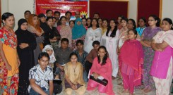 Participants of the refreshes training with GFATM-912 team leader Ms Khaleda Begum (993 x 660)