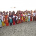 Candle light vigil on the beach of Cox's Bazar