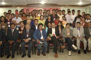 A group photo of participants and guest