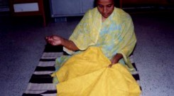 Woman entrepreneur making product