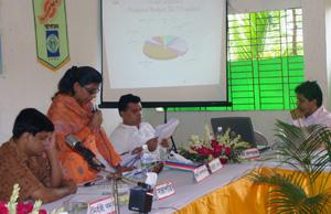 Ms.Yasmin Akter Jugnu , Finance Secretary presented organizational finance report (09-10) and Yearly budget (10-11)