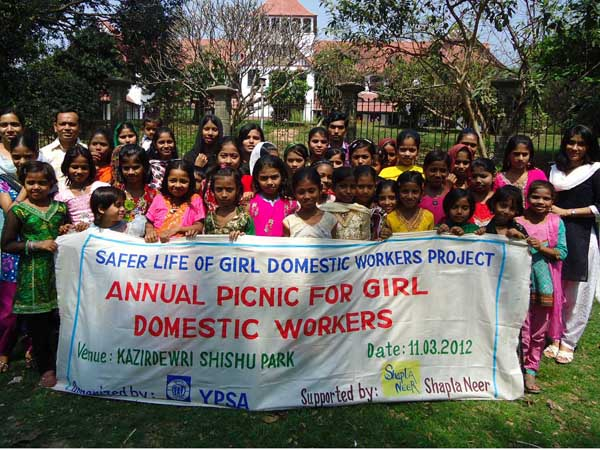 Annual Picnic for the girl domestic workers in Chittagong