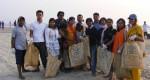 GX team on Cox's Bazar beach