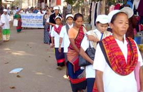 Rally at Rangamati
