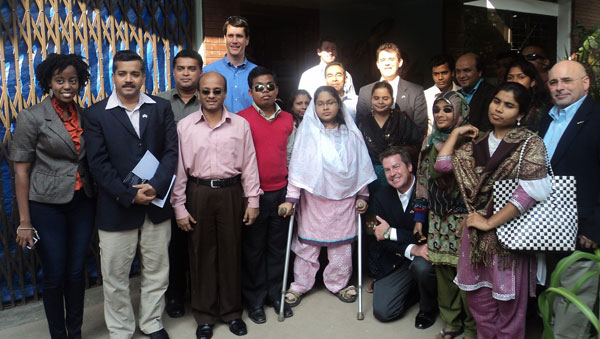 USA delegation team with YPSA officials at YPSA head office