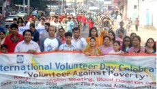 Rally on Volunteer Day