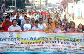 Rally on Volunteer Day