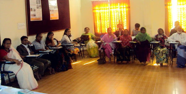 Participants in the meeting at kurigram