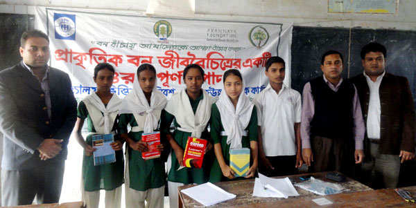 """Speech contest on """"The natural forests play an important role in biodiversity conservation"""" among high school students"""