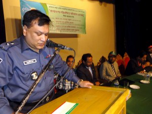 Superintendent of Police in Chittagong AKM Hafiz Akhter spoke in the meeting