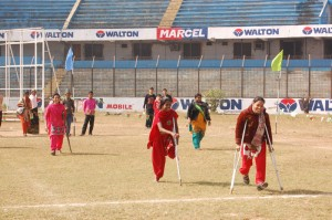 Women PWDs attempt to run
