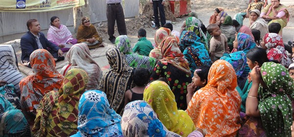 YPSA organized Yard Meeting to raise awareness among the women in the villages of  Mirsharai