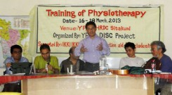Opening of three-day training workshop on Physiotherapy