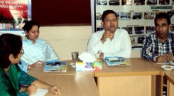 Visitors in a meeting at YPSA Head Office