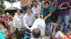 YPSA with the support of Plan Bangladesh distributed food and safe drinking water among the persons with disability