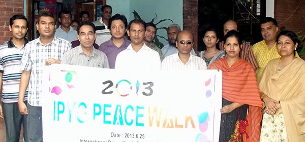 International Peace Walk 2013 in Bangladesh