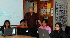 Trainees in a session