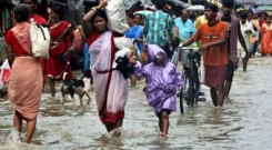 Flood victims displace