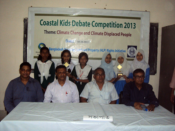 Partcipants of the final round at Coastal Kids Debate Competition and Guests