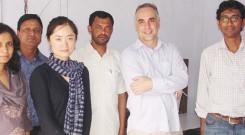 Mr. Ibon Villelabeitia and Ms. Meixun Jin with BRAC Officials at YPSA Rangunia Office