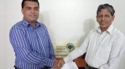 Contract singing between Mr.Farid Uddin Ahmed , Executive Director of Arannayk Foundation (AF) and Mr.Md. Arifur Rahman, Chief Executive of YPSA
